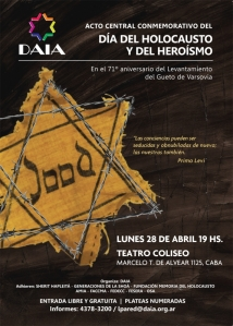 Dia del Holocausto y Heroismo