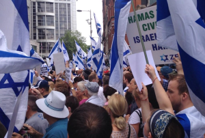 protesters-wave-israeli-flags-pro-israel-placards-demonstration-kensington-west-london